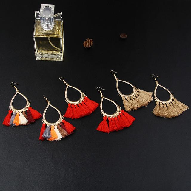 Vintage Gift Tassel Earrings
