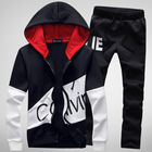 2018 brand sporting suit men letter sportswear sweatsuit male sweat track suit jacket hoodie with pants Mens sporting suits
