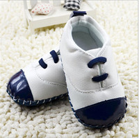 2015 High Quality Genuine Leather Baby Shoes Kids Unisex Antiskid Footwear First Walkers Toddler Sport Shoes Sneakers