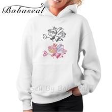 Babaseal Cute Angel Cartoon Aesthetic Mermaid Sweatshirt Funny Hoodies Plus Size Vintage Hoodie 3d Printer Collar Hoodies