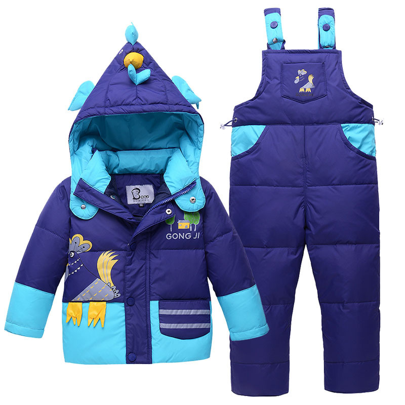 Kids Snowsuits Winter Down Jackets for Boys Girls Children Clothes Warm Jacket Toddler Outerwear Clothing Set Jumpsuit Costume winter down jacket for girls boy coat children s down jackets for boys winter jackets kids outerwears