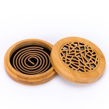 PINNY Bamboo Incense Burner 2 And 4 Hours Coil Burners Room Decoration Meditation Censer Natural Materials