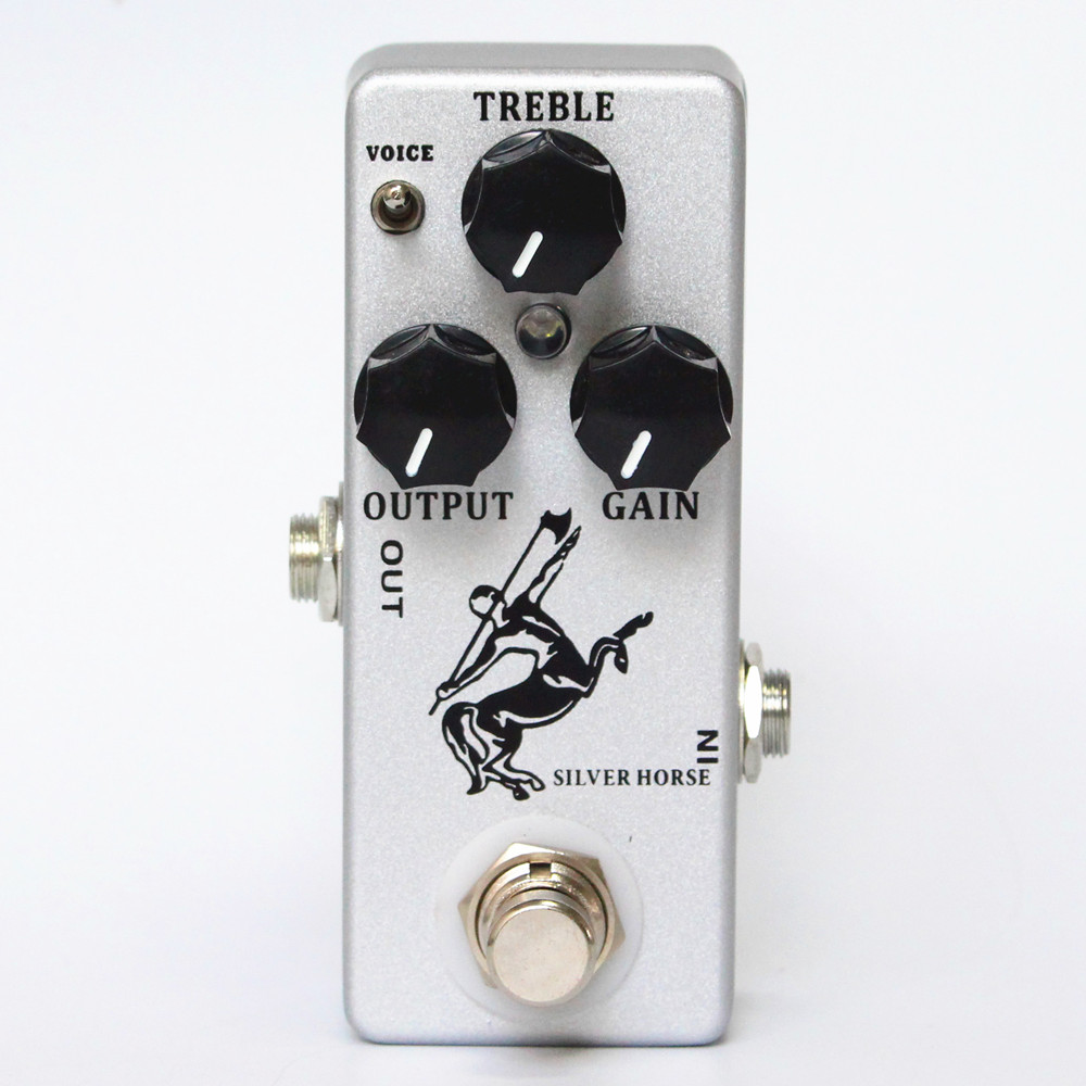New Sliver /Golden Horse Guitar Effect Pedal Overdrive/Boost-MINI KLON Centaur Clone and true bypass new aroma atp 3 tube pusher vlave combo simulator overdrive mini analogue effect true bypass