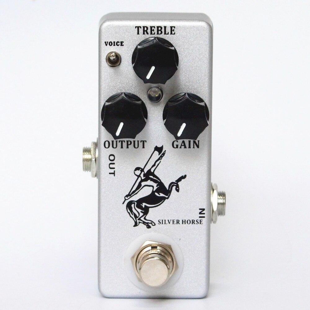 Nueva plata/Golden Horse efectos de guitarra Pedal Overdrive/Boost-MINI KLON Centauro clon y true bypass