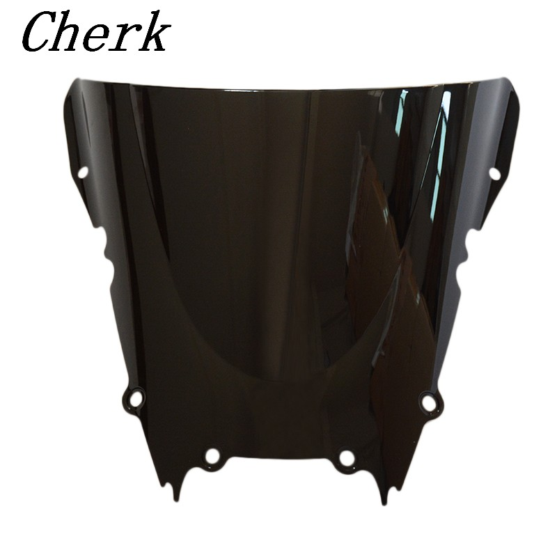 Black Motorcycle Double Bubble Windshield Windscreen Fairing For Yamaha YZF-R6 1998 1999 2000 2001 2002