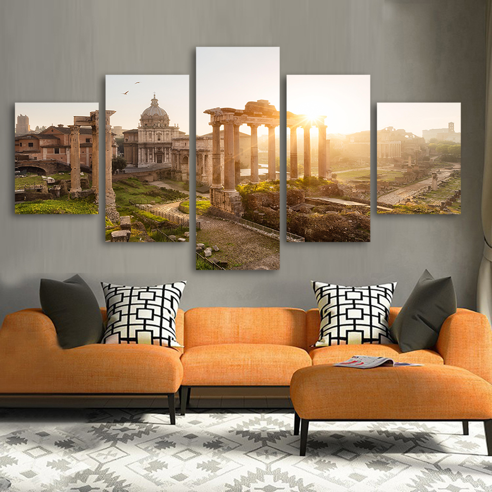 Aliexpress.com : Buy QKART 5 Panels Landscape Painting