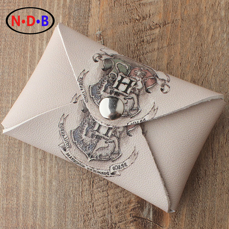 (Coin Purses)The new Europe Harry Potter Hogwarts badge change package bag wallet minimalist personality LQB1018