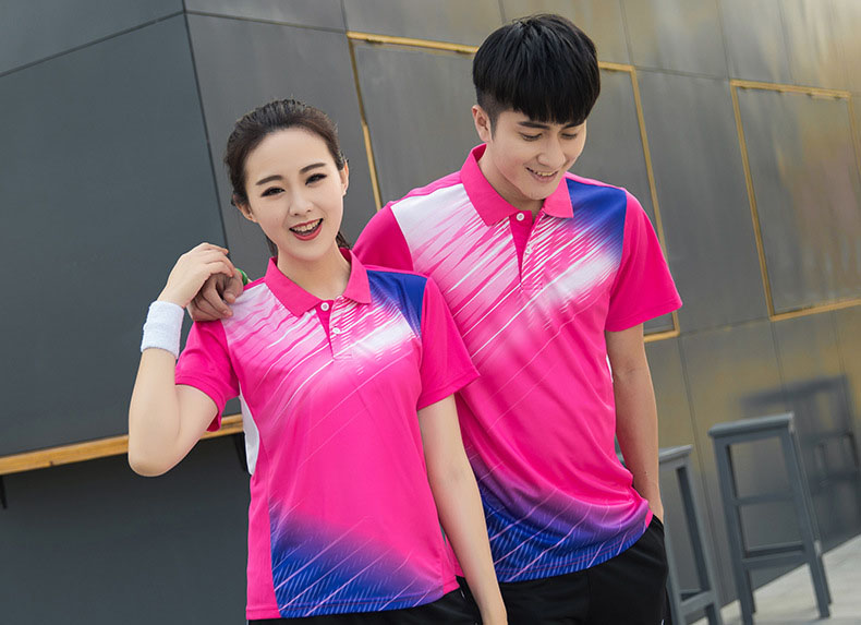Tennis t shirt Female/Male , Lapel short sleeved Quick-drying tennis training uniform , Badminton clothes , Table Tennis Jerseys