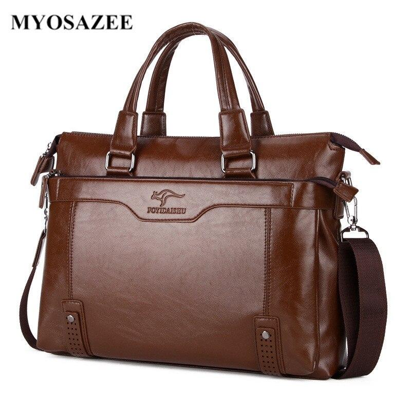 MYOSAZEE แบรนด์แฟชั่นผู้ชายกระเป๋าเอกสารกระเป๋าสะพายชาย PU หนังแล็ปท็อปกระเป๋า Crossbody กระเป๋า Messenger ชาย-ใน กระเป๋าเอกสาร จาก สัมภาระและกระเป๋า บน AliExpress - 11.11_สิบเอ็ด สิบเอ็ดวันคนโสด 1