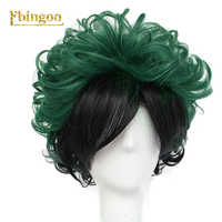 Ebingoo mój bohater akademia Izuku Midoriya peruka syntetyczna cosplay zielony czarny peruka na Halloween Costume Party