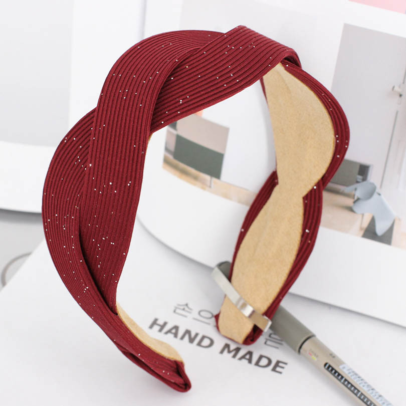 Solid Colors Women Twisted Bezel Fabric Knot Hairband Knotted Headband for Leather   Headwear   Women Hair Accessories