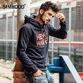 SIMWOOD 2016 Nueva Otoño Invierno Sudaderas Con Capucha de Los Hombres de Manga Larga Sudaderas Ropa Deportiva Marca WY8007