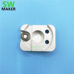 SWMAKER UP! além de kit tampa taiertime Afinia impressora 3D extrusora de metal liga de alumínio cabeça de impressão extrusora Extrusora Gear Cover