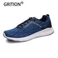 GRITION 2017 New Arrival Men Casual Shoes Fashion Mesh Breathable Spring Autumn Lightweight Shoes For Men Laces Lazy Male Shoes