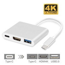 USB 3.1 Type C To HDMI Type-C 3.0 4K USB-C HUB Adapter Extender HD Male to Female for Macbook Air Converter
