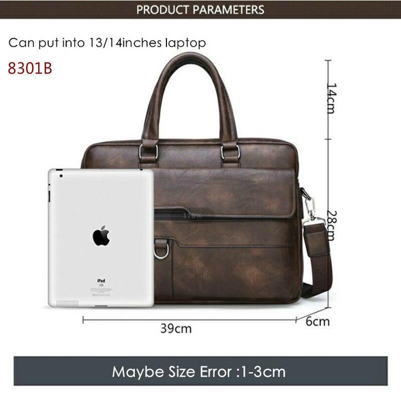 HTB1Wb7BeUCF3KVjSZJnq6znHFXaS New Men Briefcase Bags Business Leather Bag Shoulder Messenger Bags Work Handbag 14 Inch Laptop Bag Bolso Hombre Bolsa Masculina