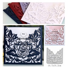 Rose Border Dies New Cutting Die Scrapbooking Craft Metal Cut for DIY Paper Cards Making Valentines Day Wedding Decorative