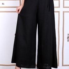 Шанхай история свободные штаны Костюм Танг для женских брюк национальный тренд Женская одежда в китайском стиле Flare Брюки