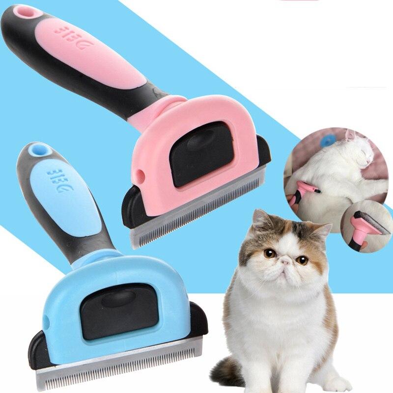 Mascota desmontable furmins depilación peine del perro pelo corto mediano mango del cepillo belleza cepillo accesorios peine para gatos Grooming Tool