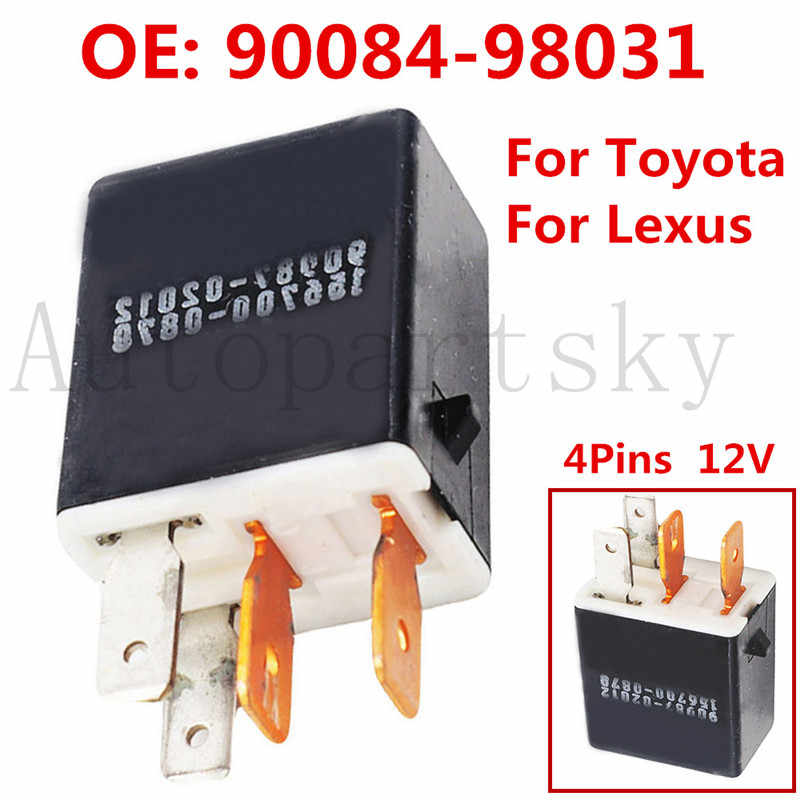 4-pins 12V Car Relay 90987-02012 156700-0870 for Toyota Lexus RAV4 Corolla 4Runner Hilux Hiace Land Cruiser Coaster