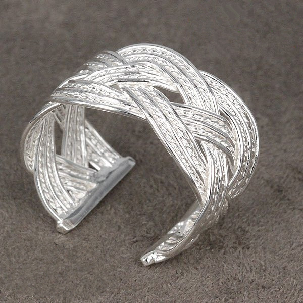 tiger totem Free Shipping New Arrival Promotion quality Cross Wave Circle width 14 mm Finger Rings fashion Charm woman jewelry