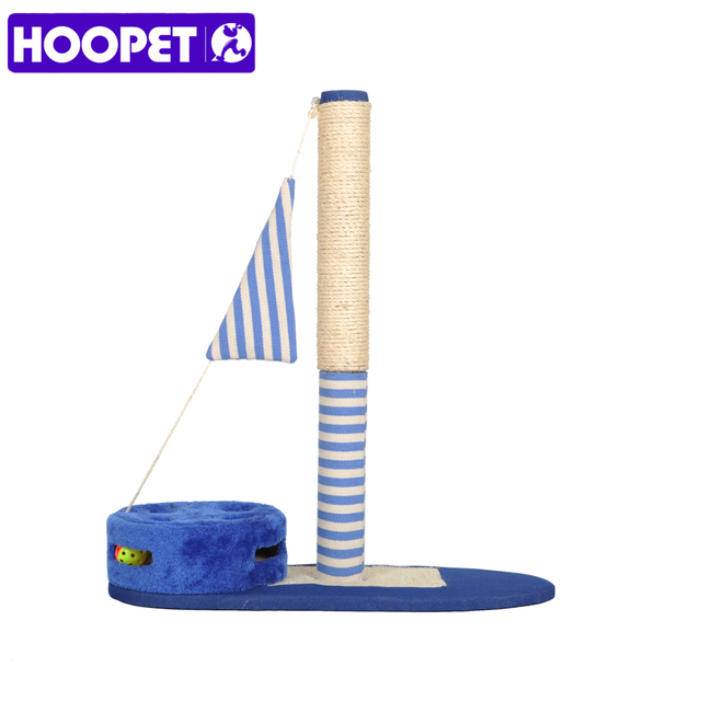 HOOPET The Small Pet Cats Striped Flags Sailing Cat Climbing Frame ...