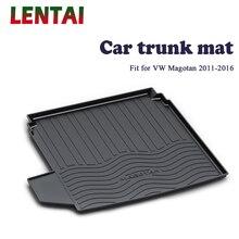 EALEN 1PC Car rear trunk Cargo mat For VW Magotan B7 2011 2012 2013 2014 2015 2016 Boot Liner Tray Anti-slip mat Accessories ealen 1pc car rear trunk cargo mat for bmw x3 f25 2011 2012 2013 2014 2015 2016 2017 2018 styling boot liner tray anti slip mat