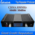 80db GSM 850 MHz Telefone Celular Impulsionador 30dBm Alto Desempenho 850 AGC MGC 3G 850 Repetidor 850 mhz Sinal Celular Repetidor LCD S20