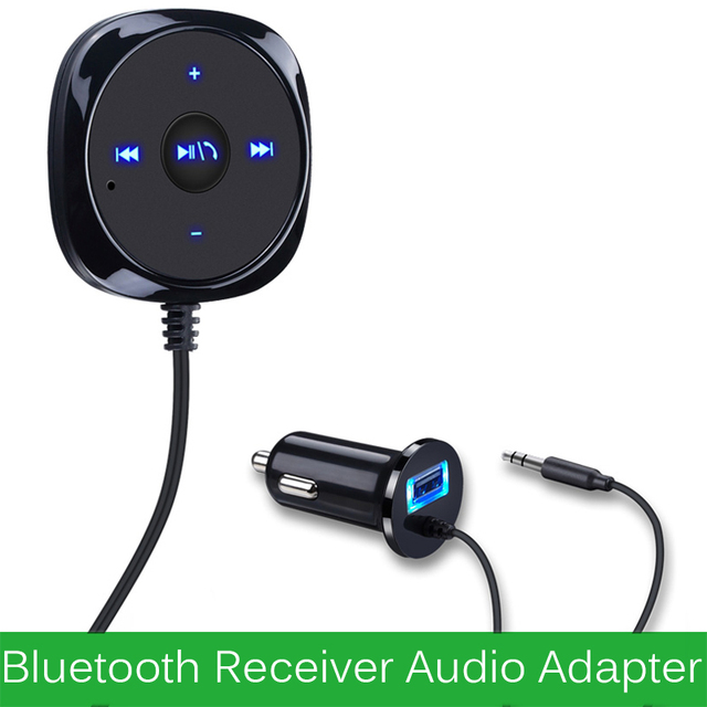Wireless Bluetooth 4.0 Audio Receiver 3.5mm Adapter Handsfree Car AUX Music Speaker Hands-free Stereo Car Aux Kit