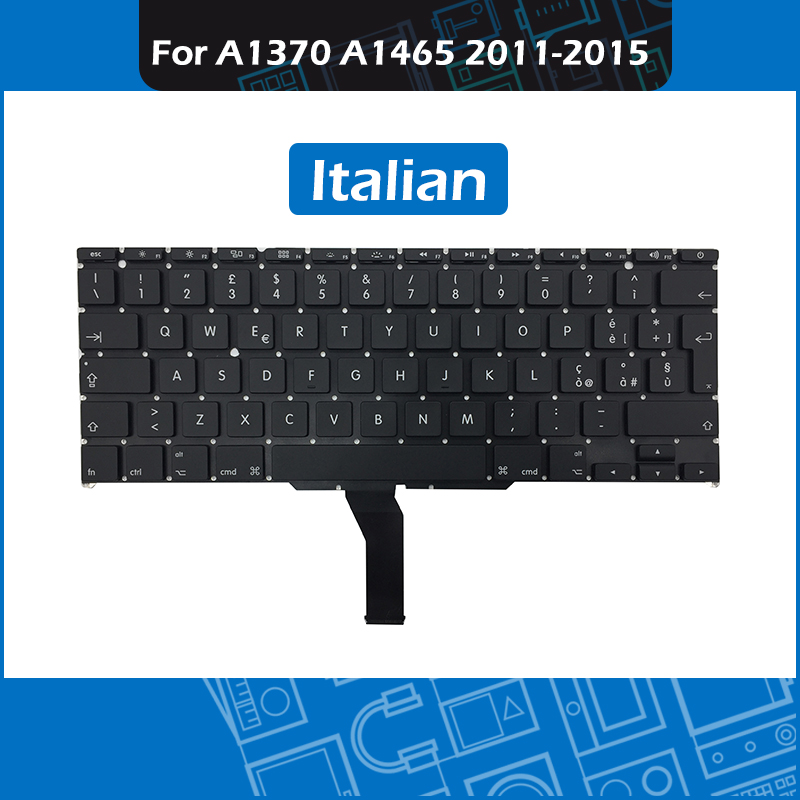 10pcs Lot A1370 A1465 Laptop Replacement Keyboard Italian Layout for font b Macbook b font Air