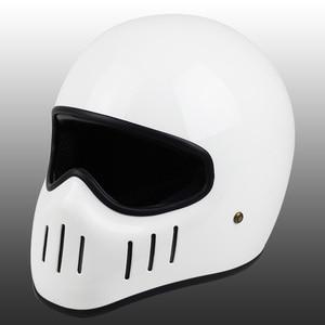 Image 4 - VCOROS Japanese TT CO full face motorcycle helmet fibe glass motorbike helmet Ghost Rider vintage racing locomotive moto helmet