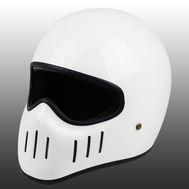 Image 4 - VCOROS Japanese tt&co full face motorcycle helmet fibe glass motorbike helmet Ghost Rider vintage racing locomotive moto helmet-in Helmets from Automobiles & Motorcycles