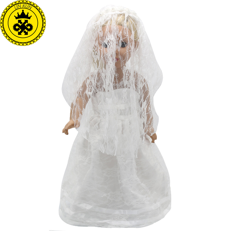 New American Girl Doll Clothes 18 inch White Wedding Dresses Handmade American Girl Doll Clothes MG-009