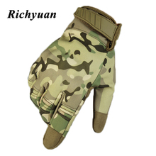 Multicam Camo Flexible Touch Screen Lightweight Breathable Assault Motorcycle Hard Knuckle Full Finger Gloves Outdoor Cycling sahoo 42890 breathable touch screen full finger cycling gloves black blue xl pair