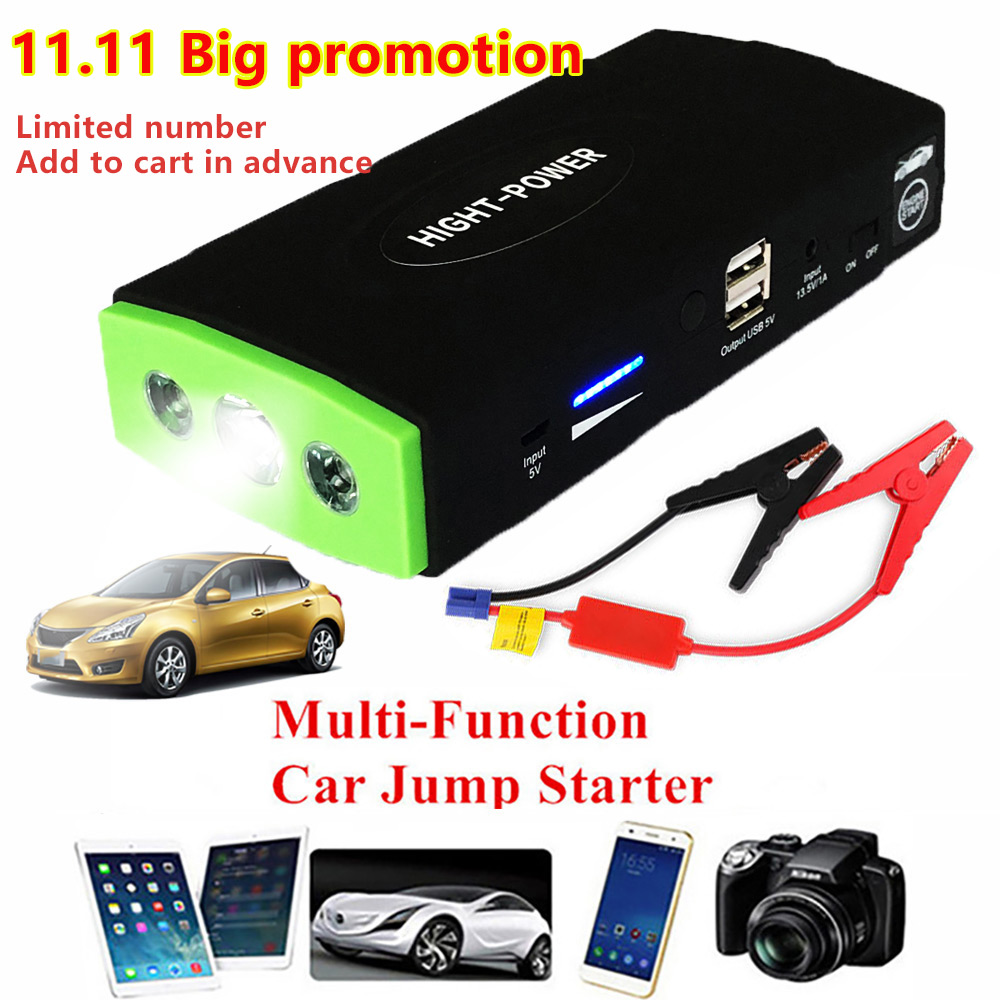 High Capacity Car Jump Starter 38000mAh 12V Portable Power Bank mini Emergency Car Battery Charger For Booster Starting Device цена
