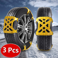 3x TPU Snow Chains Universal Car Suit 165 265mm Tyre Winter Roadway Safety Tire Chains Snow Climbing Mud Ground Anti Slip