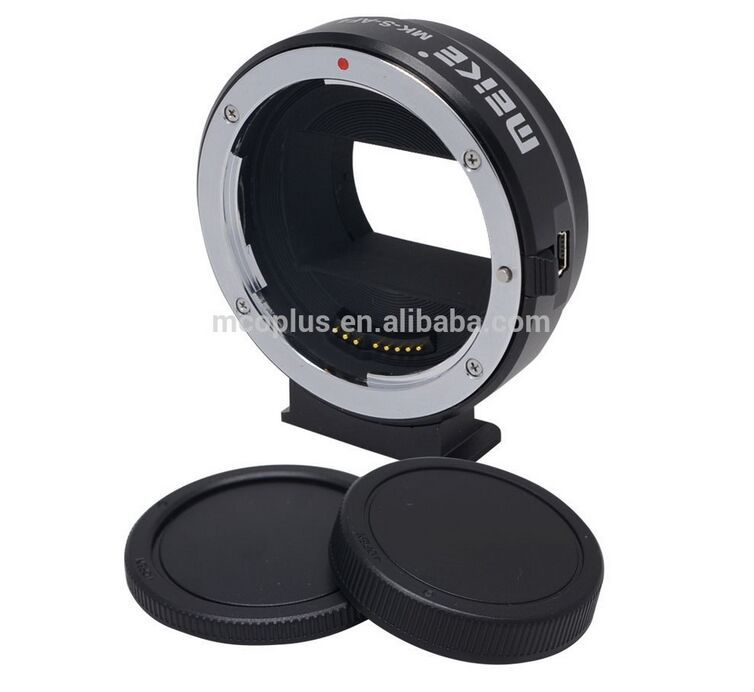 Meike Mount Adapter S-AF4 for Sony E-Mount to Canon EF/EF-S for Sony NEX-5/NEX-3/NEX-5N/NEX-5R/NEX-7/NEX-6/A7/A7R/NEX-VG10 meida universal speedlight to hot shoe adapter for sony nex 3 nex 3c more silver
