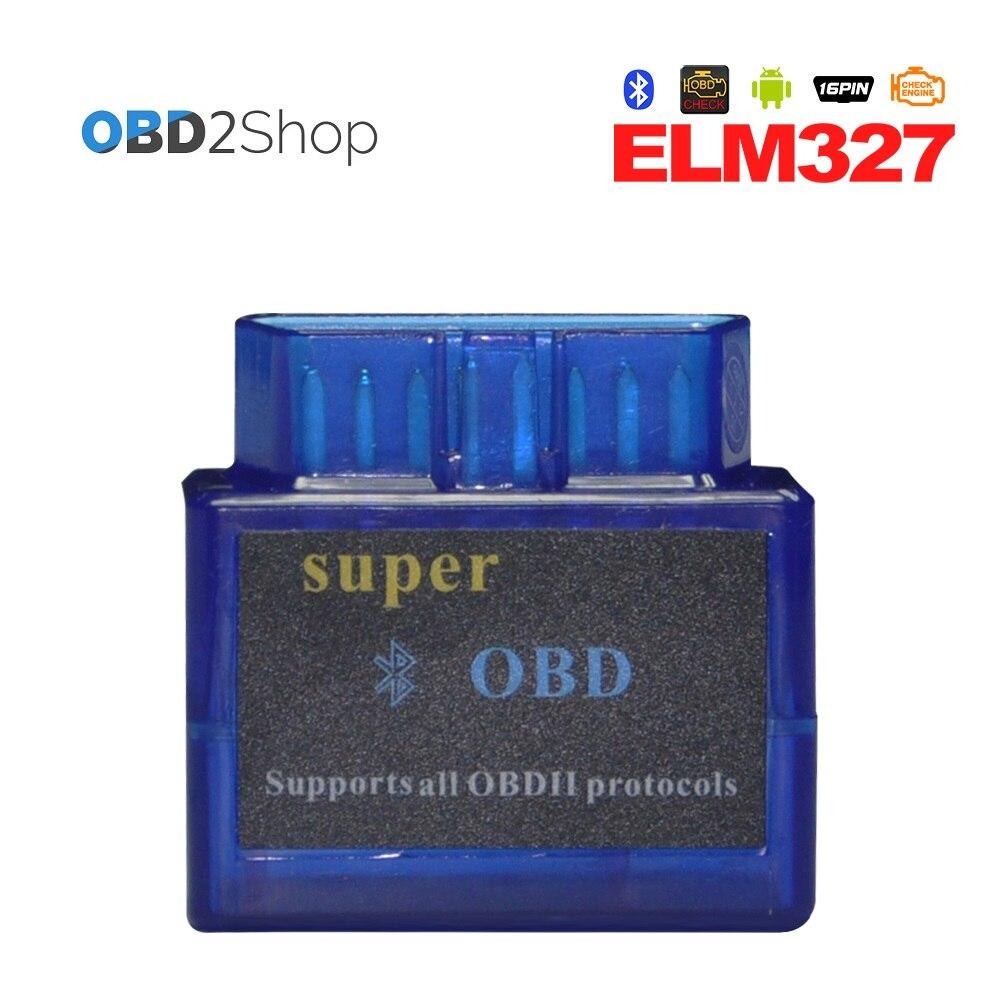 Супер OBD Мини ELM327 V2.1 Bluetooth OBD2 obd ii диагностики авто сканер инструмент ELM 327 код читателя сканер