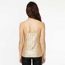 Gold Glitter Sequins Tops
