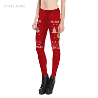 Christmas Tree Print Leggings Women Fitness Pencil Pant Beauty Snowflake Leggins For Woman Sexy Crop Hot
