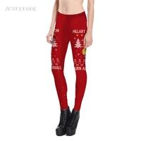 Christmas Tree Print Leggings Women Fitness Pencil Pant Beauty Snowflake Leggins For Woman Sexy Crop Hot