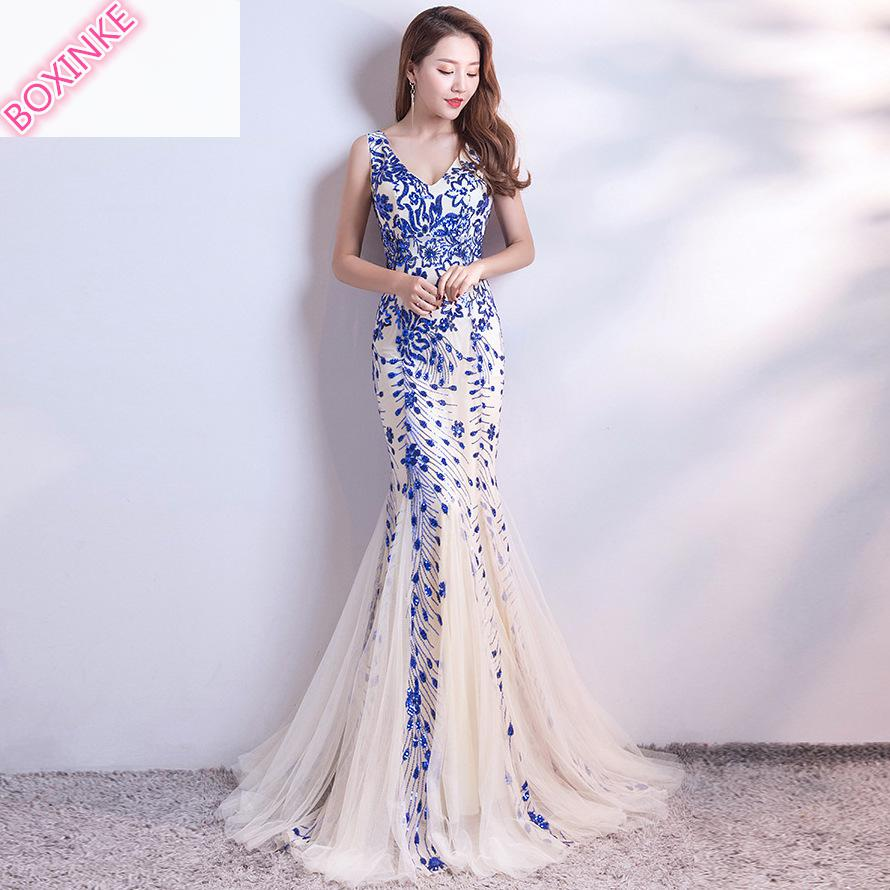 Women Dress Zanzea Promotion Cotton Plus Size New Summer Banquet Noble Elegant Annual Meeting Sexy Fishtail Sequined For 2019-in Dresses from Women's Clothing    1