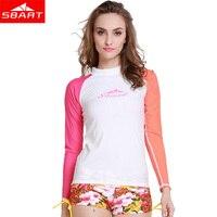SBART High Quality Women Long Sleeve Lycra Surf Rashguard upf50 Swim Rash Guard Swimwear Female Surf Swimsuit Windsurf