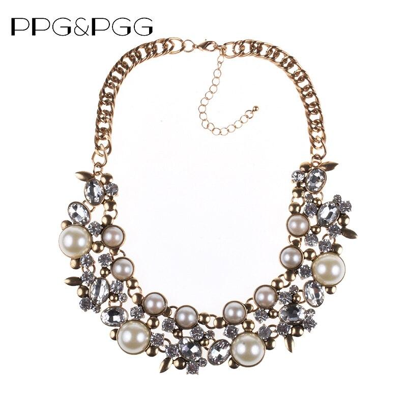 PPG & PGG Nuovo di Buona Qualità za Marca Simulato Collana di Perle Dichiarazione Choker Bib Collare Collane All'ingrosso