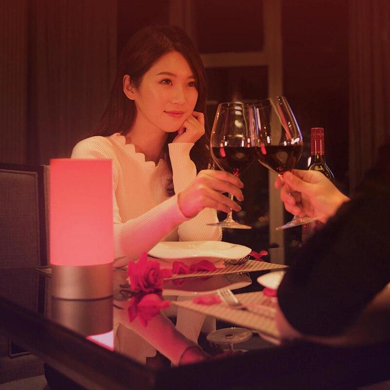 Image 3 - Оригинальный Xiao mi jia умный светильник s для помещений прикроватная настольная лампа 16 mi llion RGB Ночной светильник Wi Fi Bluetooth для Smart mi Home APP-in Настольные лампы from Лампы и освещение
