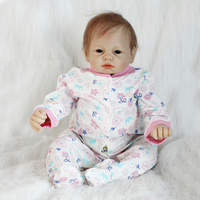 Nicery 20 22inch 50 55cm Bebe Reborn Doll Soft Silicone Boy Girl Toy Reborn Baby Doll Gift for Child Pink Headwear Jumpsuit