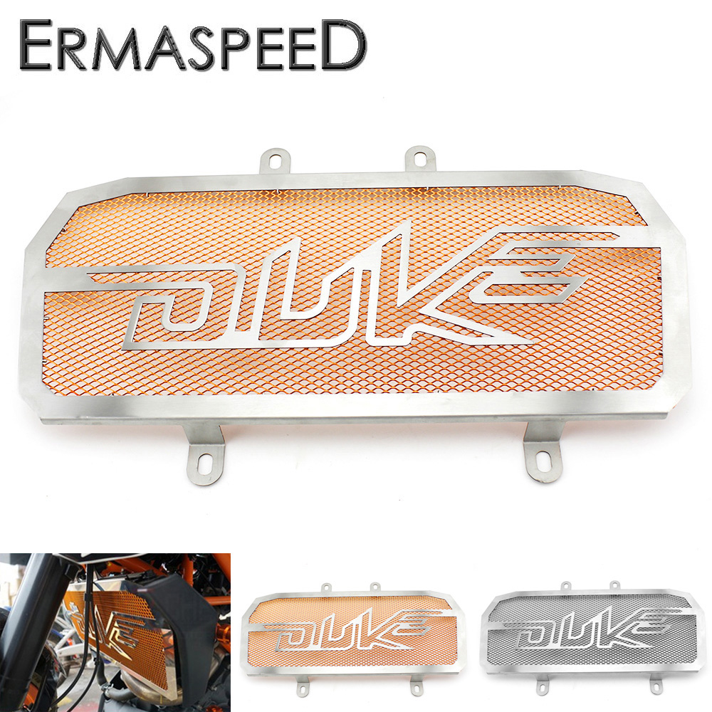 Motorcycle Stainless Steel Radiator Guard Protector Grille Grill Cover Orange Black for KTM Duke 390 2013 2014 2015 Duke 125 200 motorcycle rear brake master cylinder reservoir cove for ktm duke 125 200 390 rc200 rc390 2012 2013 2014