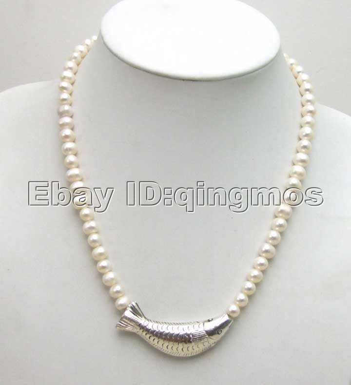 Jewelry Adviser Pearl Strands Sterling Silver 6-7mm Pink FW Cultured Pearl Necklace