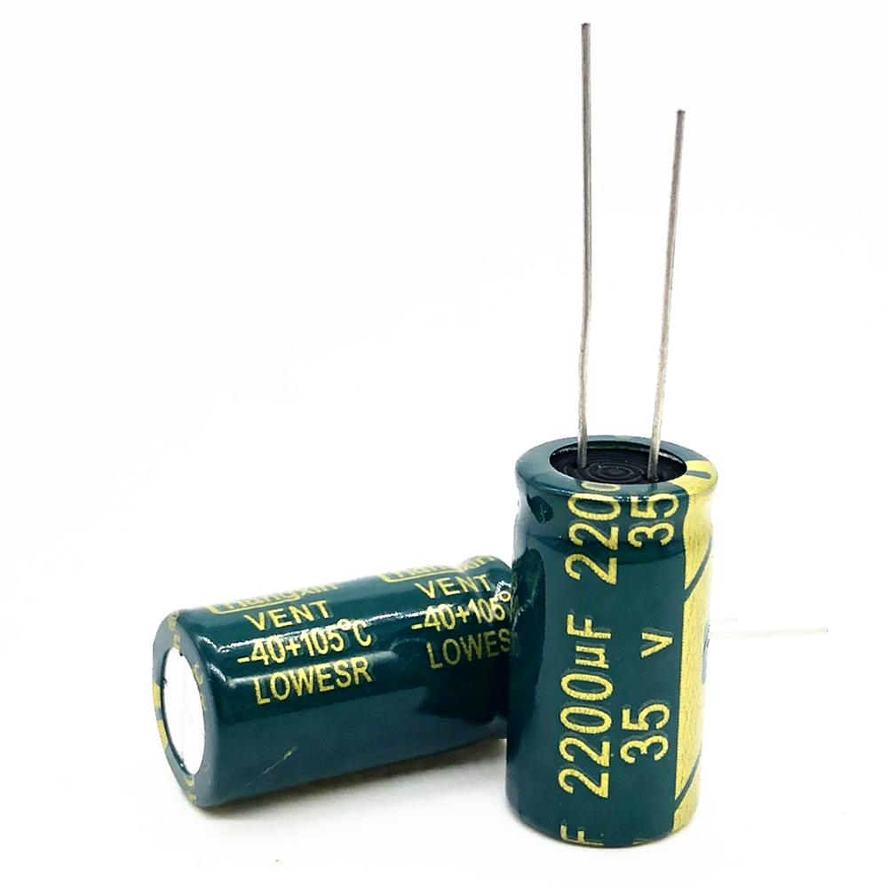 50pcs/lot 35v 2200uf 13*25 High-frequency Low-impedance Aluminum Electrolytic Capacitor 2200uf 35v 20%