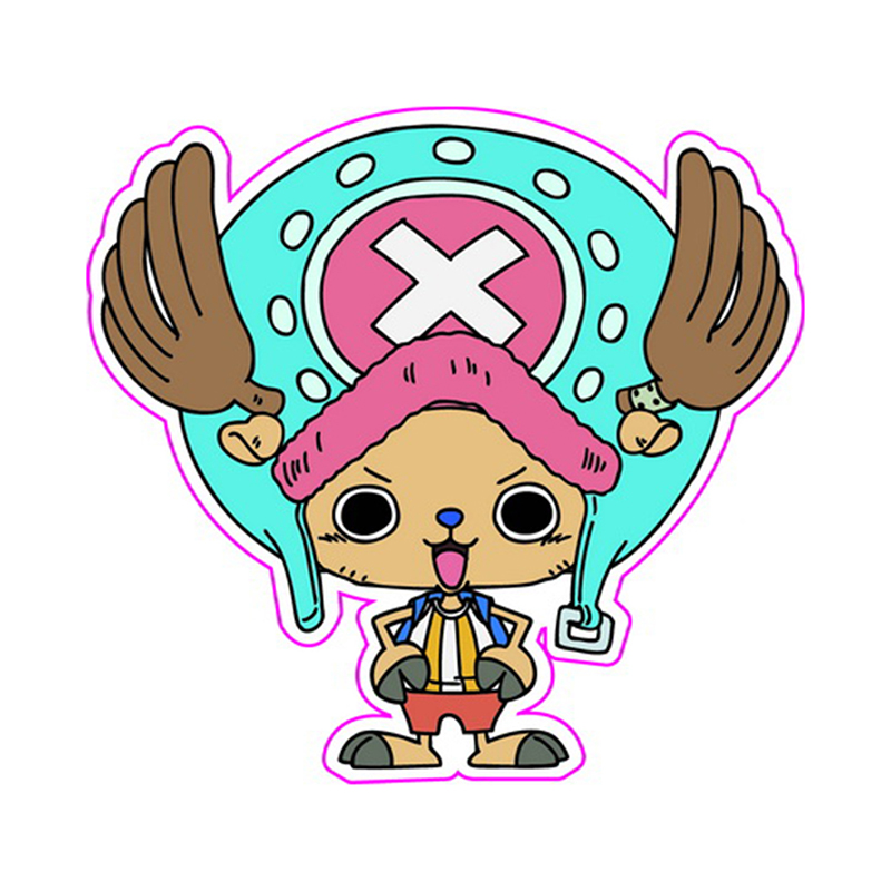 Tony Tony Chopper One Piece - Fixed Gear/Luggage/Guitar/Motor Stickers Reusable ONEPIECE Refrigerator Stickers